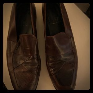 Joan and David loafers brown leather made in Italy